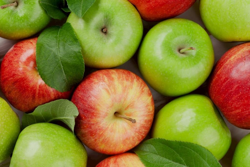 Rote und Grüne Äpfel Apfel Erdbeerland Ernst & Funck