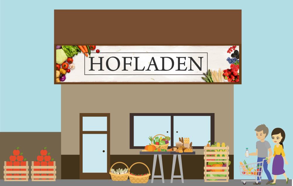Comic BildF Familie Mann und Frau kaufen in Hofladen Altstadt Heusweiler Kirkel Erdbeeren Spargel Regionale Produkte von Erdbeerland Ernst & Funck und unseren Partnern